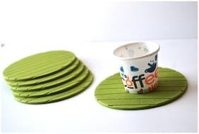 RSTC Tea Coaster Pack of 6 PC Green