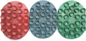 RNY RUBBER SOAP HOLDER  MULTICOLOUR (PACK OF-3)