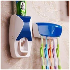 RUDRESHWAR NEW Toothpaste Dispenser with 5 Toothbrush Holder
