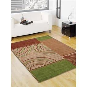 Status  Green Taba Medium Drawing Room Carpet- 1 Pc
