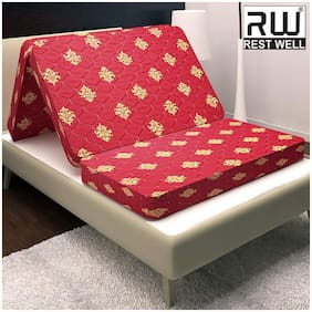 RW REST WELL Travel bed 4 inch Foam Mattress