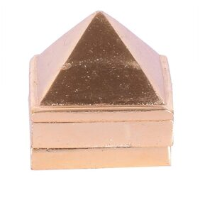Ryme Healing Chinese Multilayered Positive Energy Brass 1 Inch Pyramid for Prosperity Set of 3, 91 Pyramids