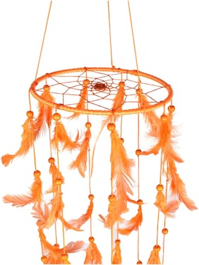 Ryme Jumar Orange Color for Dream Catcher Wall Hanging - Attract Positive Dreams & Thinking