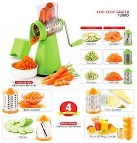 S M 4 In 1 National Rotary Graters & Slicer Cum Fruit Juicer