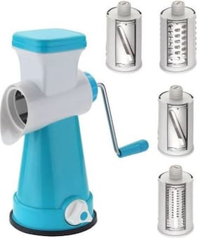 S M Blue 4 In 1 Rotary Graters & Slicer