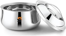 S&S Stainless Steel Double Walled Insulated Casserole/HOTPOT (Round, 1x2000ml)