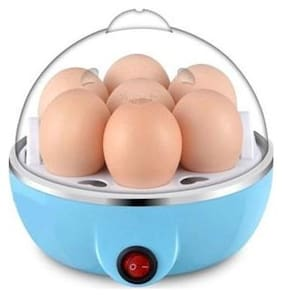 S4D  Plastic 7 Egg Boiler Home Machine with Tray- Multicolour