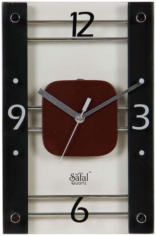 Safal Black Wall clock