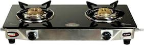 Safeline SAFELINE 2 Burners Stainless Steel Gas Stove - Black