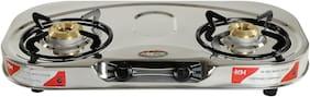 Safeline SAFELINE 2 Burners Stainless Steel Gas Stove - Silver