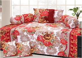 Sai Arpan Poly cotton Printed Single Size Diwan Sets - Pack of 1