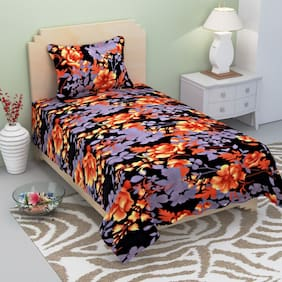 Sai Arpan's Premium Polyester Single Bed Sheet with Pillow Cover