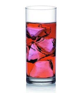 Sajawat House  Fin Line Glass Set, 355ml, Set of 6, Transparent