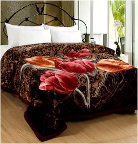 San Marco Eros Super Soft Double Ply Winter Blankets - Double Bed