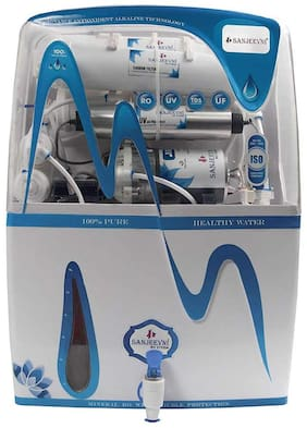 Sanjeevni RO+UV+UF+ Mineral +TDS Adjuster+ Pre Filter, 14 Stage Fully Automatic RO Water Purifier with 15 Litre Storage