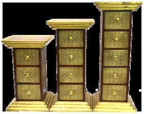 Santarms Wooden Drawer Pillar