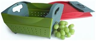 Sanyal Snapfold Folding Kitchen Sink Colander Drainer Strainer Vegetable Fruit Basket