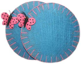 Sarvsiddhi Round Board Coaster Set Blue (Big)