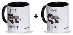Sassy Baegum Zero Fox Given Printed (Ceramic) Tea/Coffee Mug - Set Of 2
