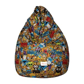 Sattva Classic Style XL Printed Bean Bag (With Beans) Filled