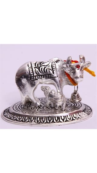 Satya Kamdhenu Cow & Calf Holy Wishing Statue