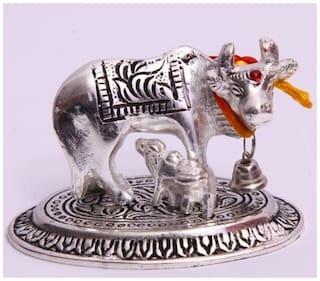 Satya Kamdhenu Cow & Calf Holy Wishing Statue