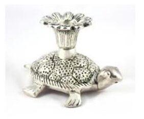 SatyaVipal Alloy Silver Candle
