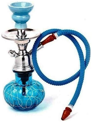 Satya Vipal Glass Blue Hookah Set of 1