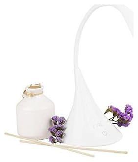 sayee Plastic Modern White Table lamp ( Set of 2 )