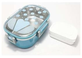 sayee 2 Containers Stainless steel Lunch Box - Assorted