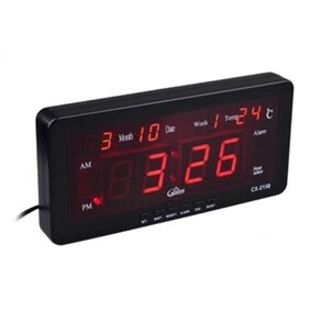 Saysha LED Stylish Digital Display Wall or Desk Clock With Month,Week,AM:PM, Temperature and Alarm clock