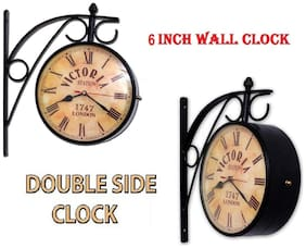 Sba Entice Metal Analog Wall clock ( Set of 1 )