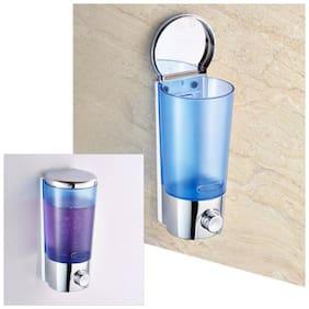 SBL Classic Home 400 ml Gel, Lotion, Foam, Conditioner, Soap, Shampoo Dispenser (Steel, Blue) 400 ml Gel, Lotion, Conditioner, Soap, Shampoo Dispenser  (Blue, Silver)