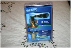 Schlage Hall And Closet Lever Handle Set Brass Color Finish
