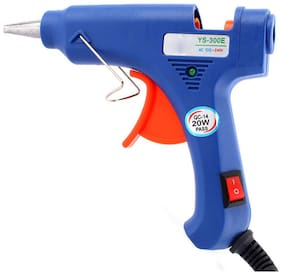 SCHOFIC Hot Melt Glue Gun (FREE BONUS 20 GLUE STICKS) - Heavy Duty 40 W Rapid Heating Technology Kit With Flexible Trigger - Blue
