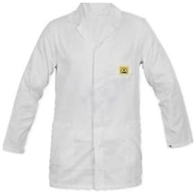 Schofic Polyester Apron White ( Pack of 1 )