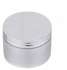 SCORIA 63mm Metal Herb Storage Grinder/Crusher with Honey Dust Filter (Silver)