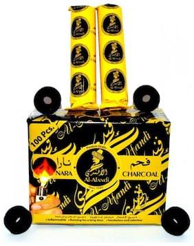 Scoria Glass Black Hookah Charcoal Set Of 10