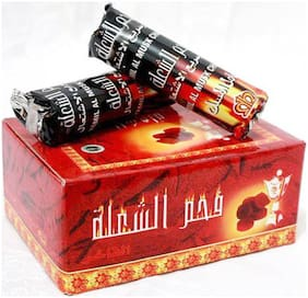 Scoria Glass Black Hookah Charcoal Set Of 10