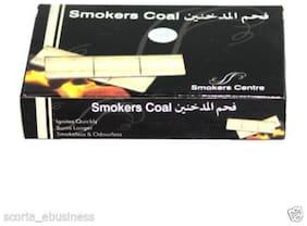 Scoria Glass Black Hookah Charcoal Set Of 1