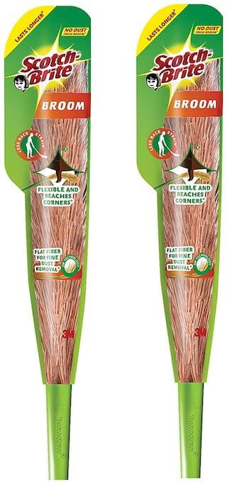 Scotch-Brite Plastic Brooms (Pack Of 2)