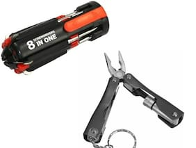 Screwdriver Set 8 in 1 tool kit and 9 in 1 Micro Plier Tool Kit Multi Utility Plier combo Combination Screwdriver Set