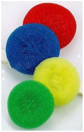 SCRUBBER Junga soft &silky Multi used clean dish washing sponge.( assorted colour) set of 4