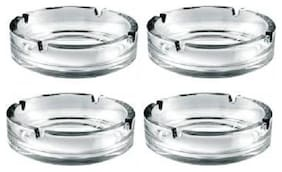 Seahawks Ashtray Pack of 4 Clear Glass Ashtray  (Pack of 4)