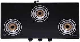 Seavy SEAVY 3 Burners Gas Stove - Black