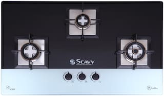 Seavy Seavy 3 Burner Automatic Hobs Assorted Gas Stove