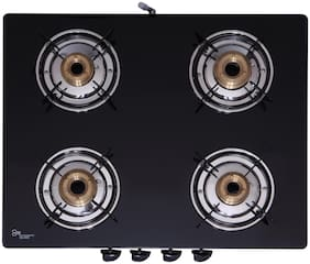 Seavy Seavy 4 Burner Regular Black Gas Stove ,