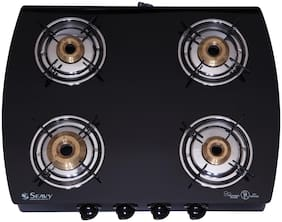 Seavy SEAVY 4 Burners Gas Stove - Black