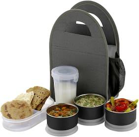 SEDULOUS Grey Lunch box ( Set of 5 , 1000 ml )
