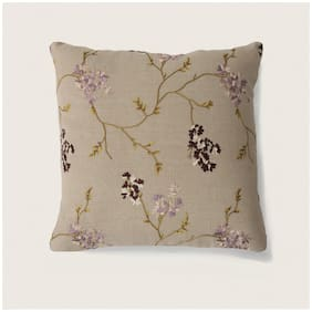 Seevo 24 X 24Inch Embroidered Multi Square Cotton Cushion Cover (Pack Of 1)